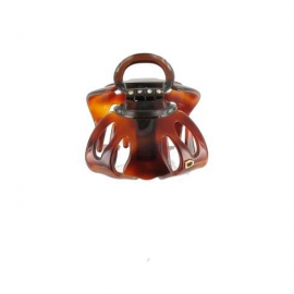 Medium size black schell octopus clip
