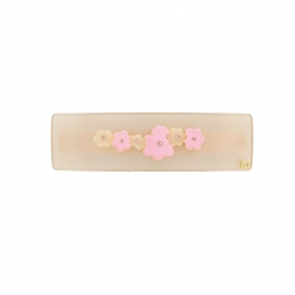 barrette fleurs queue leu leu pink