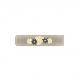 Barrette fleurs queue leu leu grey