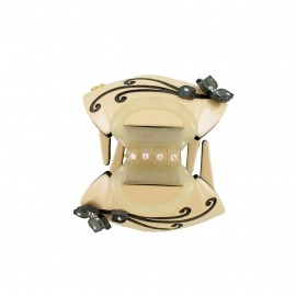 Octopus clip Lys ivory-black