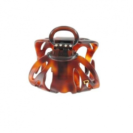 Large size black schell octopus clip