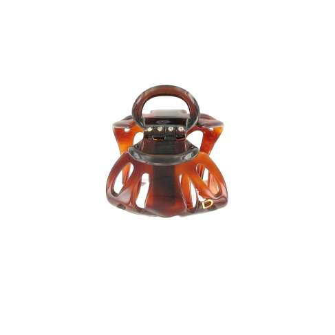 Small size black schell octopus clip