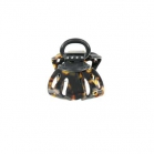 Small size brown tokyo octopus clip