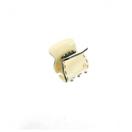 small size ivory/black clip